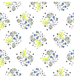 Millefleurs miniature flowers and branches vector