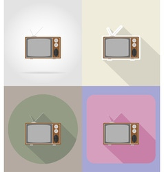 Multimedia flat icons 12 vector