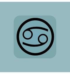 Pale blue Cancer sign vector image