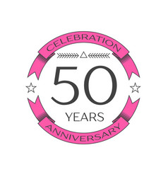 Realistic fifty years anniversary celebration logo vector