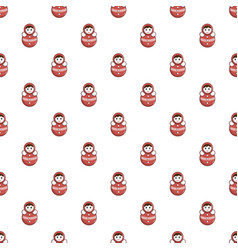 Red tumbler doll pattern vector
