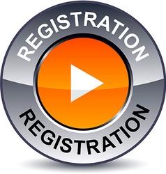 Registration round button vector