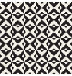 Seamless Black And White Square Triangle vector image