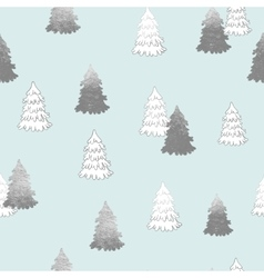 seamless pattern with New Year silver vector image vector image