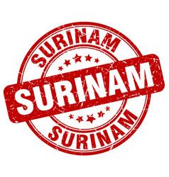 Surinam stamp vector