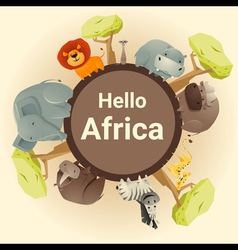 Wild african animal background vector