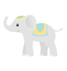 Elephantcolored baby toy vector