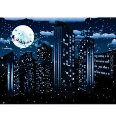 Santa Claus Coming to City4 vector image
