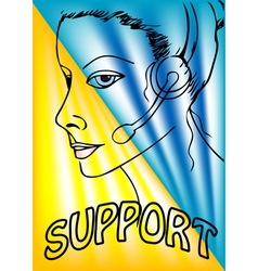 Support phone operator vector