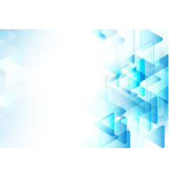 Abstract blue triangles repeating background vector