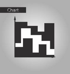 Black and white style icon 3d chart vector