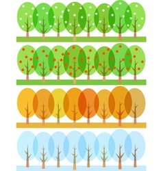 seasons 1 vector image