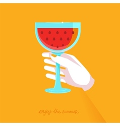 Flat poster - enjoy the summer vector