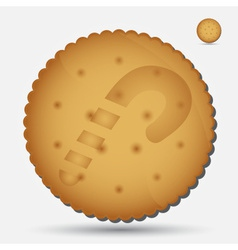 Christmas brown biscuit with lollipop symbol eps10 vector