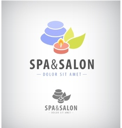 Spa salon relax icon isolated vector