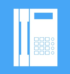 Landline phone on a white background vector