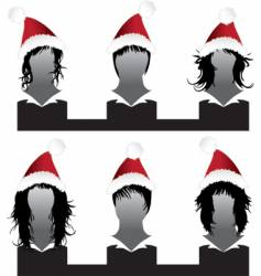 Christmas hair styles vector image