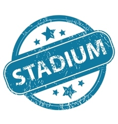 Stadium round stamp vector