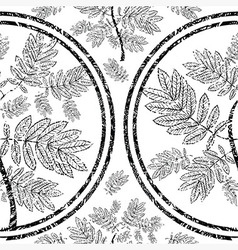 seamless tree pattern 09 grunge vector image