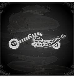Hand drawn motorbike vector