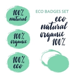 Eco badges constructor and set vector image