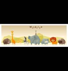 Wild animal background 1 vector image