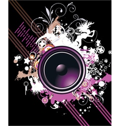Speaker with floral vector