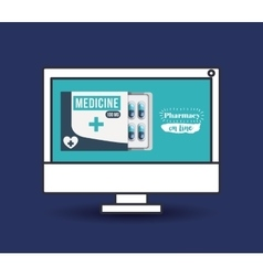 Pharmacy online design vector