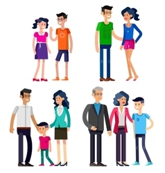 Stages of life young couple vector