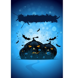 Grunge halloween party template vector