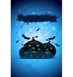 Grunge halloween party template vector