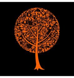 Tree Halloween vector image