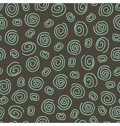 Abstract pattern spiral dark vector image vector image