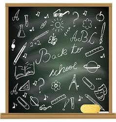 Back to school blackboard vector image