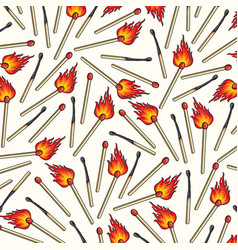 background pattern with safety matches vector image vector image