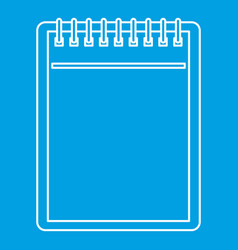 Blank spiral notepad icon outline vector
