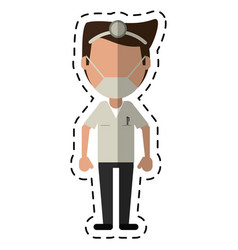 cartoon doctor specialist mask medical vector image