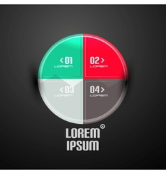 Circle infographics business template vector image
