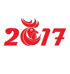 Cock new year vector