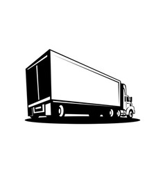 Container truck and trailer vector