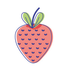 Delicious strawberry fruit with vitamins and vector