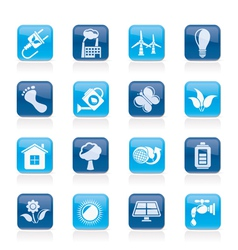 Ecology and environment icons vector image vector image