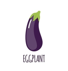Eggplant icon in flat style on white background vector image