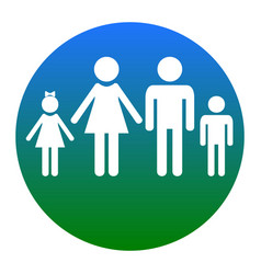 Family sign white icon in vector