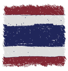 Flag of thailand handmade square shape vector