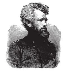 General robert h milroy vintage vector