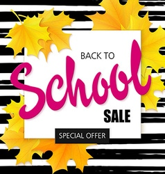 Hand drawn back to school lettering sale label vector