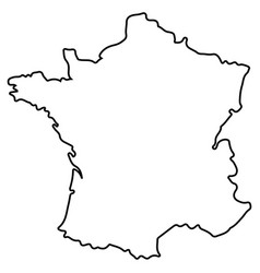 isolated french map vector image