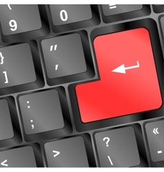 Keyboard empty red enter button Keyboard concept vector image vector image