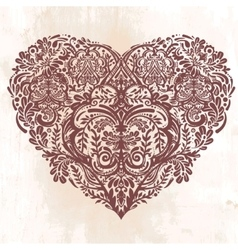 Lace heart art vector